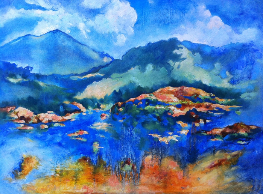 Carmel oil painting copy