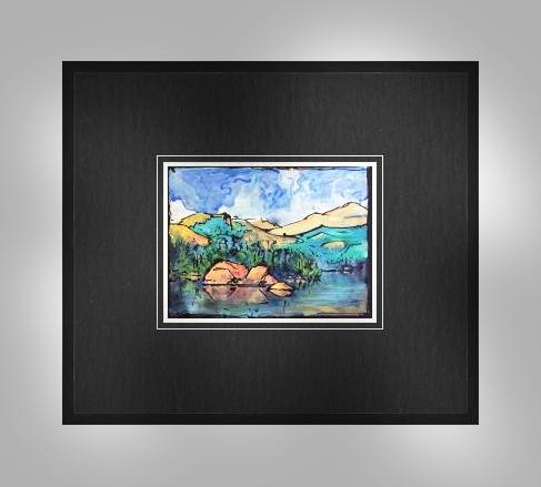 lake framed lit
