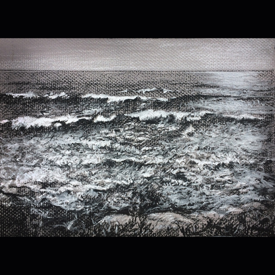 Waves chalk drawing mr