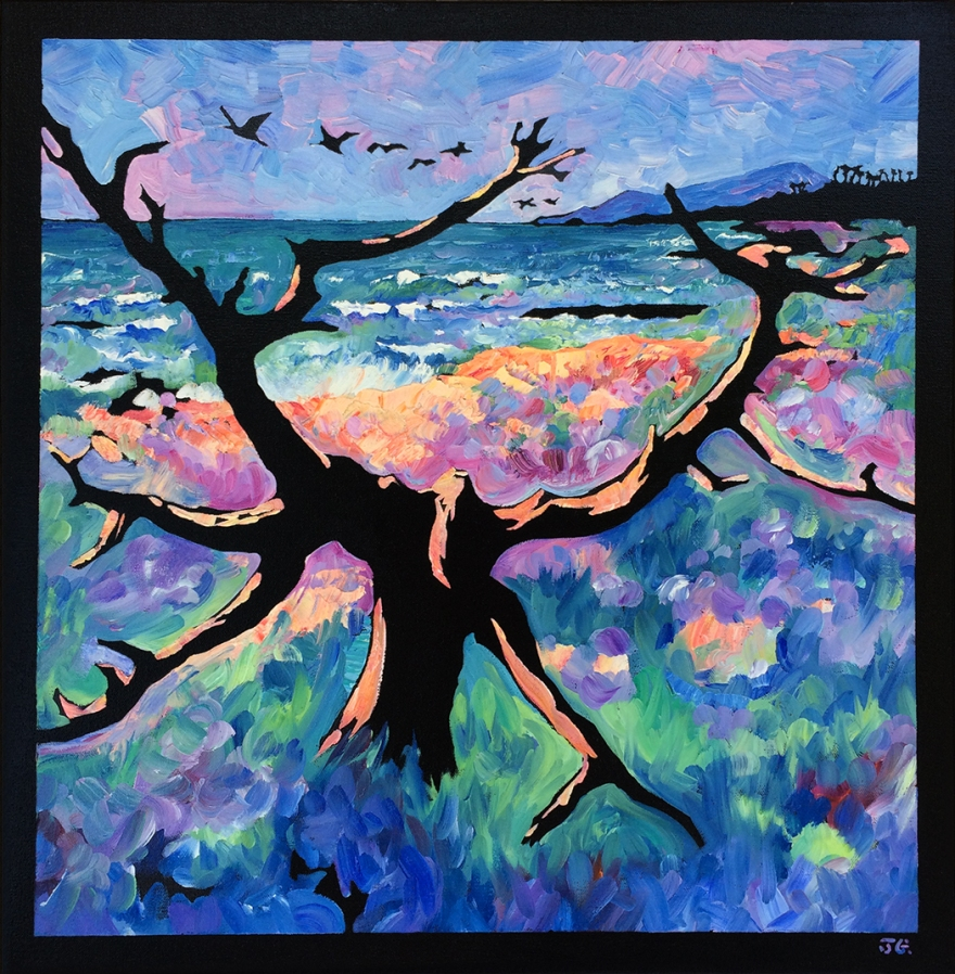 Carlsbad tree oil painting mr